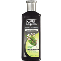 NaturVital Henna Shampoo Black Highlights