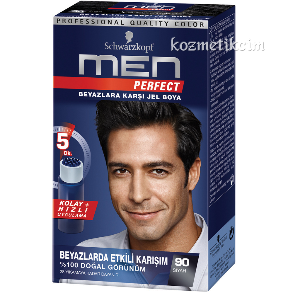 Schwarzkopf Men Perfect Amonyaksız Jel 90-Siyah