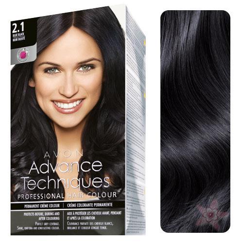 Avon Advance Techniques Sac Boyasi 2 1 Mavi Siyah Renk Yogun