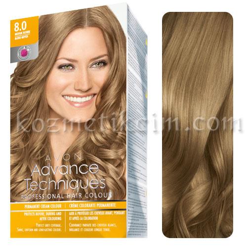 Avon Advance Techniques Saç Boyası 80 Koyu Sarı Renk Yoğun Mükemmel