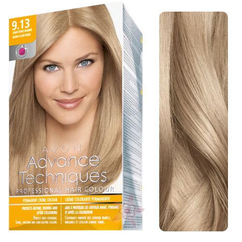 Avon Advance Techniques Saç Boyası 913 Bej Sarı Renk Yoğun Mükemmel