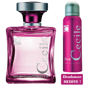 Cecile Diva Women EDT 100 ml + Deodorant 150 ml