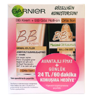 Garnier BB Krem 50 ml + BB Göz Roll-on 7 ml Orta Ton