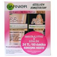 Garnier BB Krem 50 ml + BB Göz Roll-on 7 ml Açık Ton