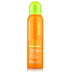 Lancaster Wetskin Sun Sport Invisible Mist Wet Skin Application Progressive Tan Spf 50-125 ml