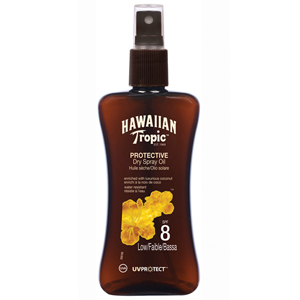 Hawaiian Tropic Protective Dry Spray Oil Spf 8 Low/Faible/Bassa-Koruyucu Bronzlaştırma Yağı 200 ml
