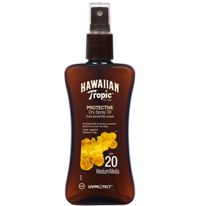 Hawaiian Tropic Protective Dry Spray Oil Spf 20  Medium/Media -Koruyucu Bronzlaştırma Yağı 200 ml