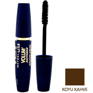 Maybelline Volum' Express Ultra Volume Ultra Fast  Maskara Koyu Kahve