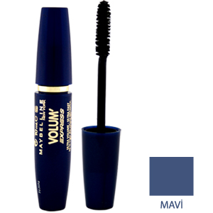 Maybelline Volum' Express Ultra Volume Ultra Fast  Maskara Mavi