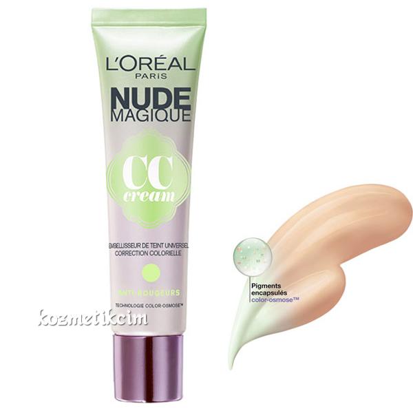 LOréal Nude Magique CC Krem Kızarıkları Kapatmak İçin
