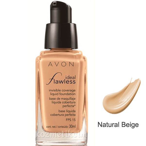 AVON ideal Flawless invisible Coverage Fondöten SPF-15 Natural Beige