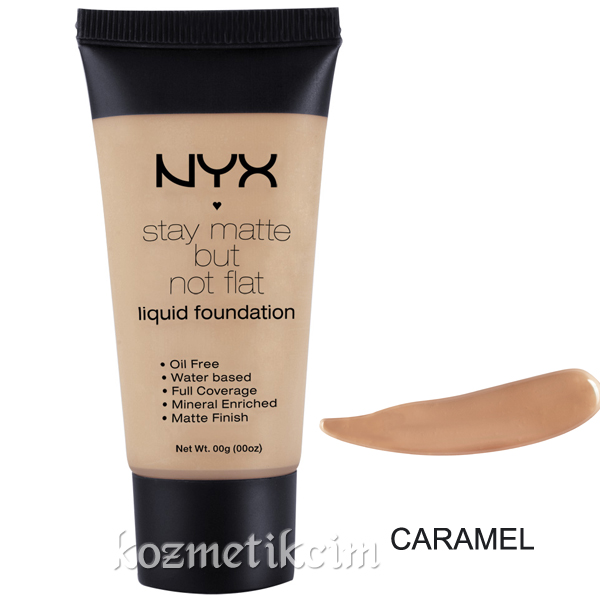 NYX Stay Matte But Not Flat Fondöten Caramel