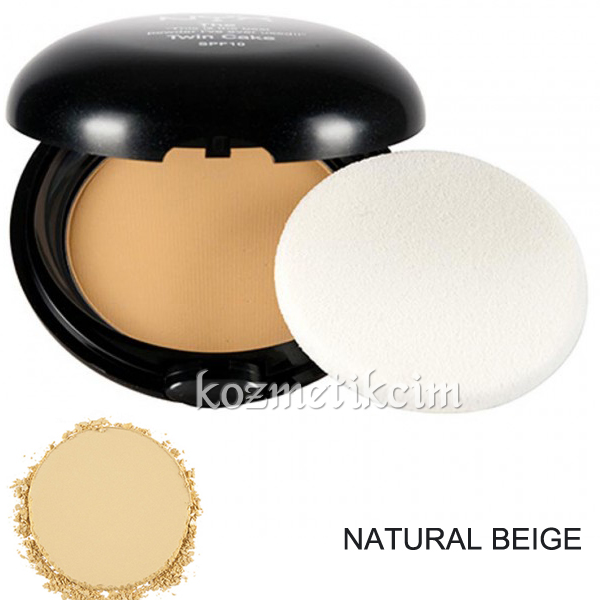 NYX Twin Cake Pudra Natural Beige