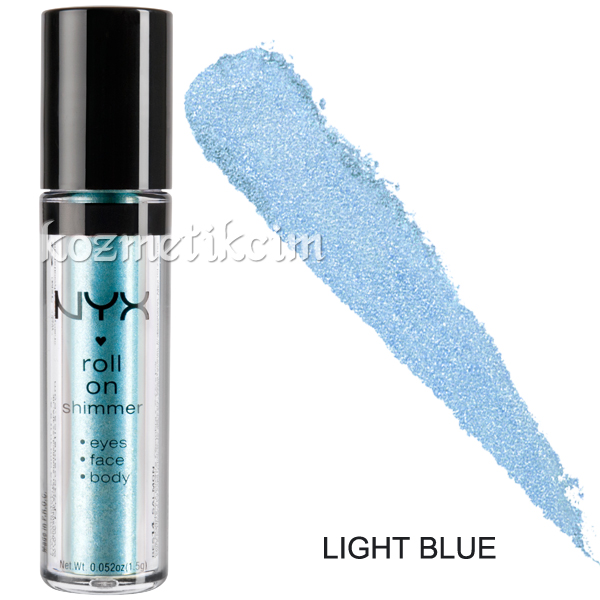 NYX Roll On Eye Shimmer Göz - Yüz - Vücut Farı Light Blue