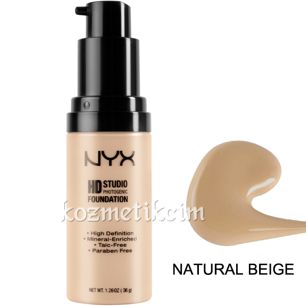 NYX HD Studio Photogenic Fondöten Natural Beige