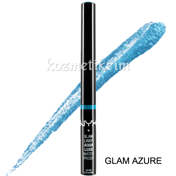 NYX Glam Liner Aqua Luxe Collection Eye Liner Glam Azure
