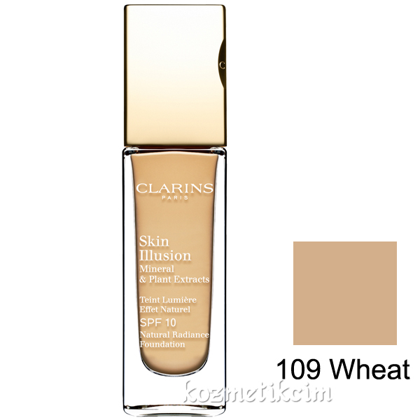 Clarins Skin Illusion Natural Radiance Foundation SPF 10 109 Wheat