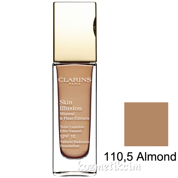 Clarins Skin Illusion Natural Radiance Foundation SPF 10 110,5 Almond