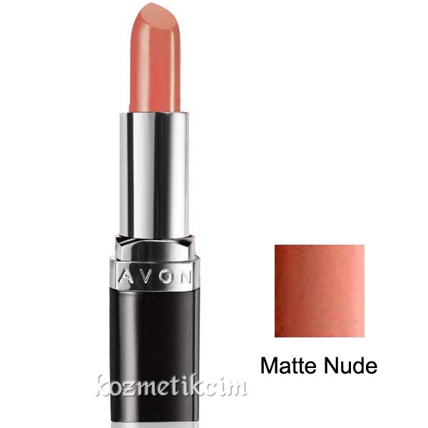 Avon Ultra Colour Mat Ruj Matte Nude Kozmetikcim