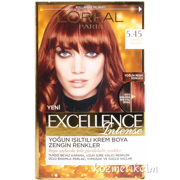 Loreal Excellence Intense Saç Boyası 545 Bakır Kahve Kozmetikcim