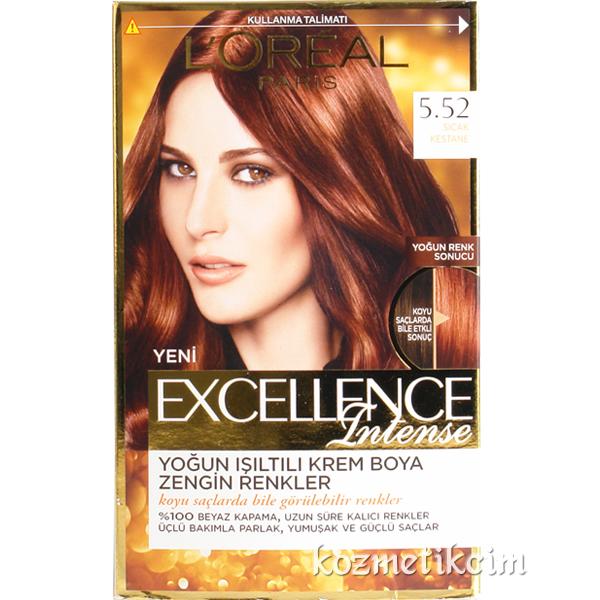 Loreal Excellence Intense Saç Boyası 552 Sıcak Kestane Kozmetikcim