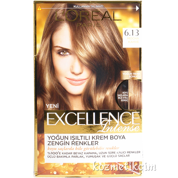 Loreal Excellence Intense Saç Boyası 613 Mocha Kahve Kozmetikcim
