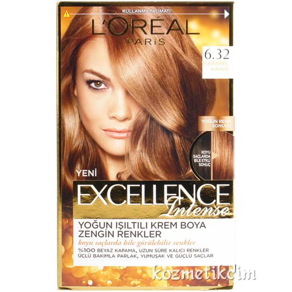 Loreal Excellence Intense Saç Boyası 632 Karamel Kahve Kozmetikcim