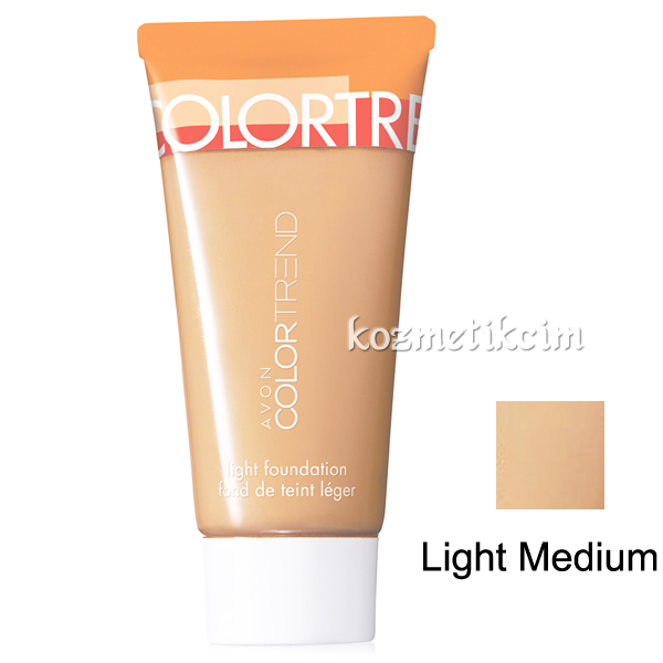 AVON Color Trend Hafif Dokulu Fondöten Light Medium
