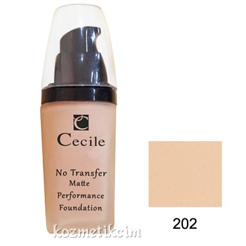 Cecile No Transfer Matte Performance Foundation 202