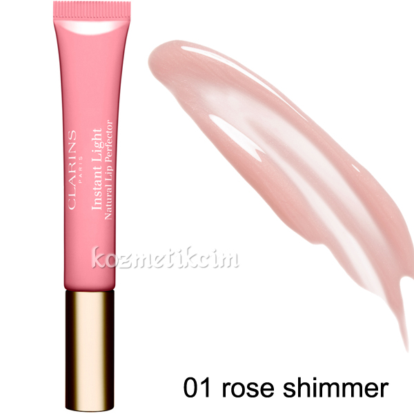 Clarins Instant Light Natural Lip Perfector 01 rose shimmer