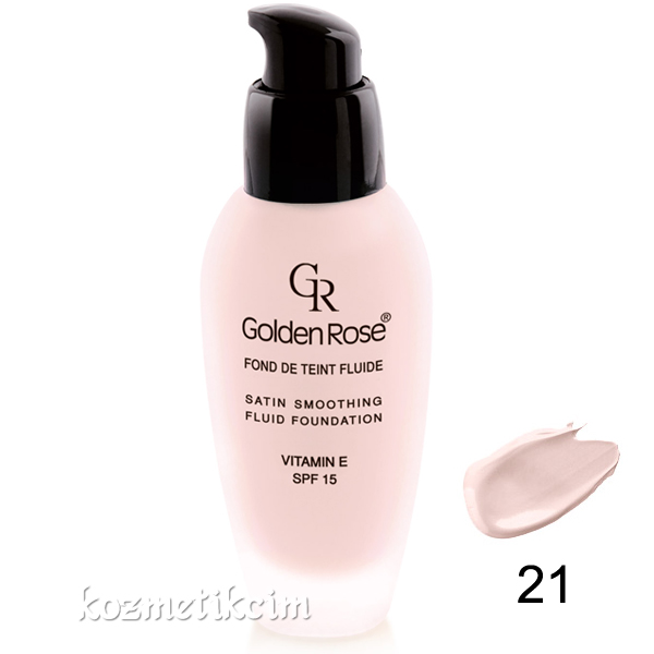 Golden Rose Satin Smoothing Fluid Foundation SPF15 21
