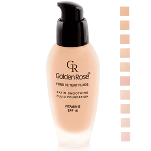 Golden Rose Satin Smoothing Fluid Foundation SPF15