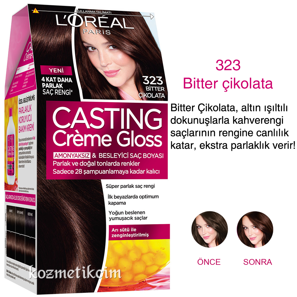 Loreal Casting Creme Gloss Amonyaksiz Ve Besleyici Sac Boyasi 323