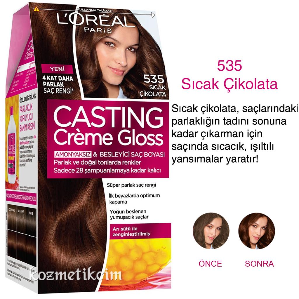 Loréal Casting Créme Gloss Amonyaksız Ve Besleyici Saç Boyası 535