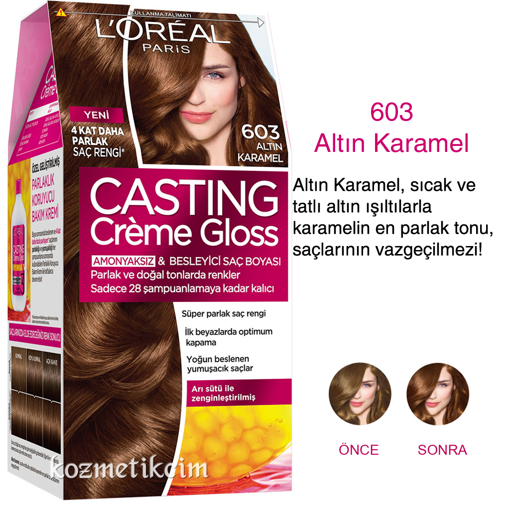 Loreal Casting Creme Gloss Amonyaksiz Ve Besleyici Sac Boyasi 603