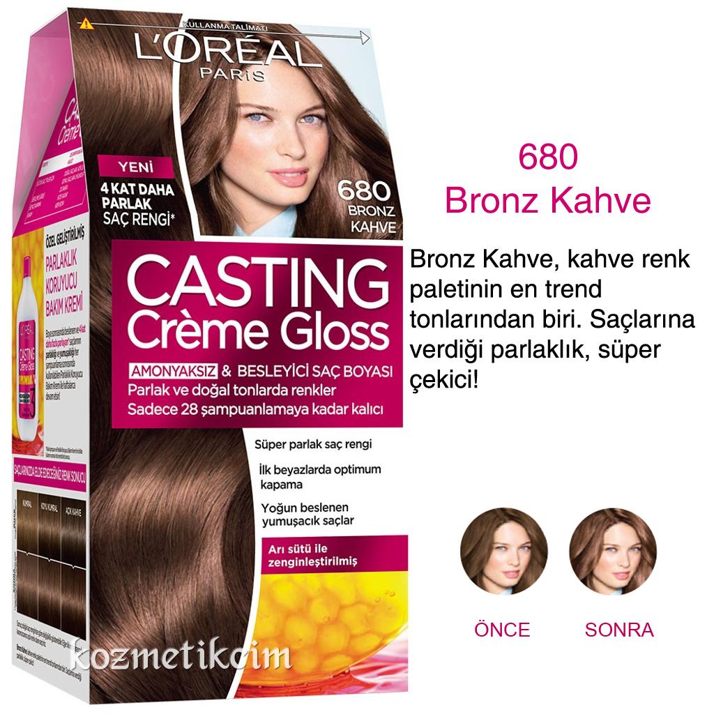 Loréal Casting Créme Gloss Amonyaksız Ve Besleyici Saç Boyası 680
