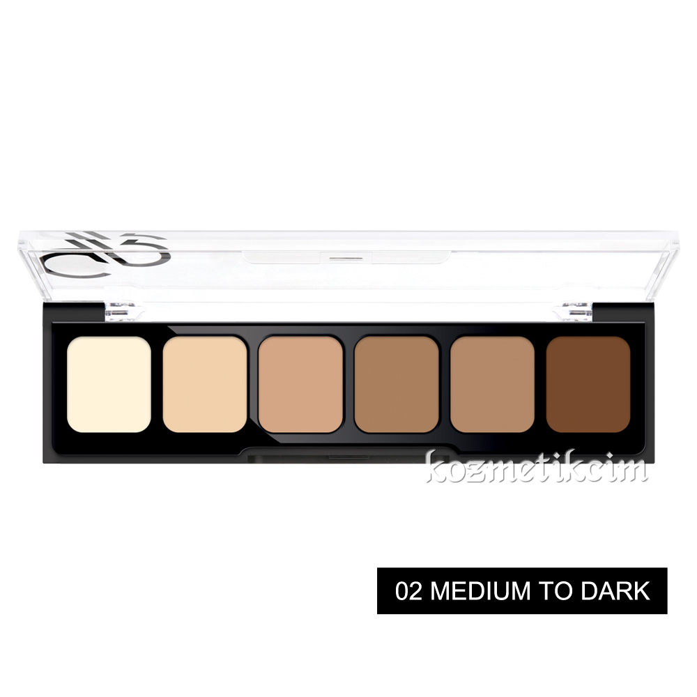 Golden Rose Correct & Conceal Concealer Cream Palette 02 Medium to Dark