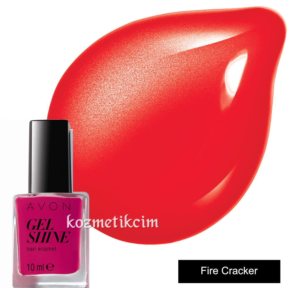 AVON Mark Gel Shine Tırnak Cilası - Oje Fire Cracker