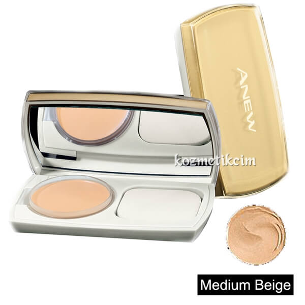 AVON Anew Beauty Kompakt Fondöten SPF15 Medium Beige