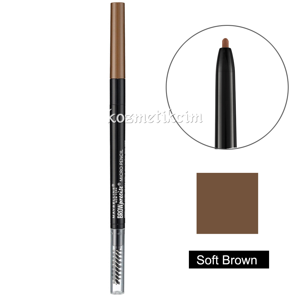 Maybelline Brow Precise Micro Pencil Asansörlü Kaş Kalemi Soft Brown