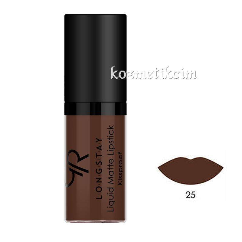 Golden Rose Mini Longstay Liquid Matte Lipstick 25 Kozmetikcim