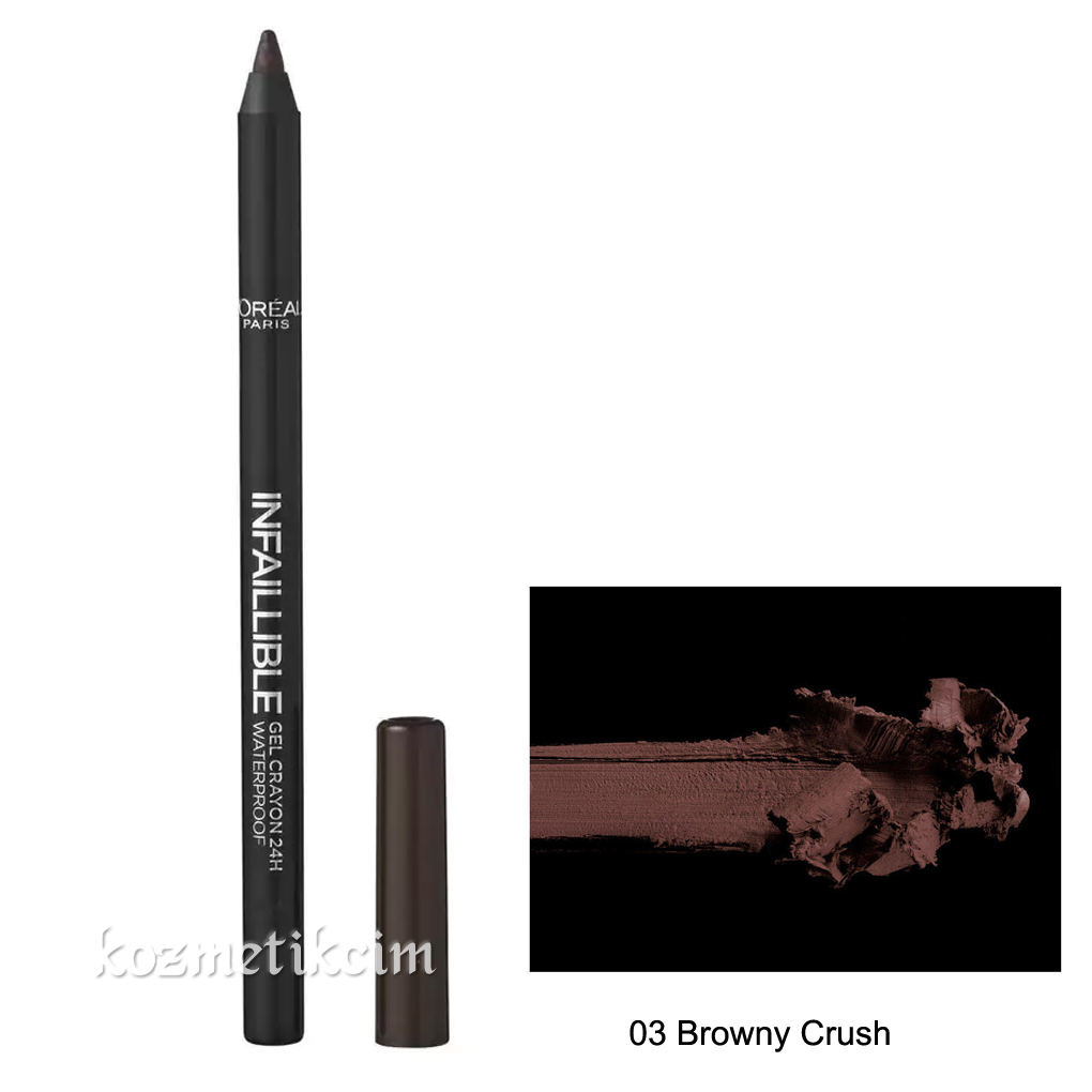 L'Oréal Infallible Gel Crayon Waterproof Eyeliner 03 Browny Crush
