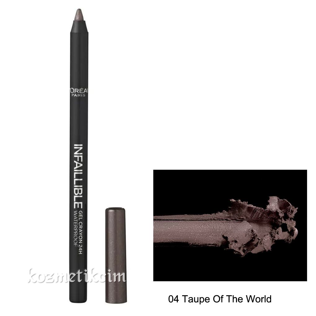 L'Oréal Infallible Gel Crayon Waterproof Eyeliner 04 Taupe Of The World
