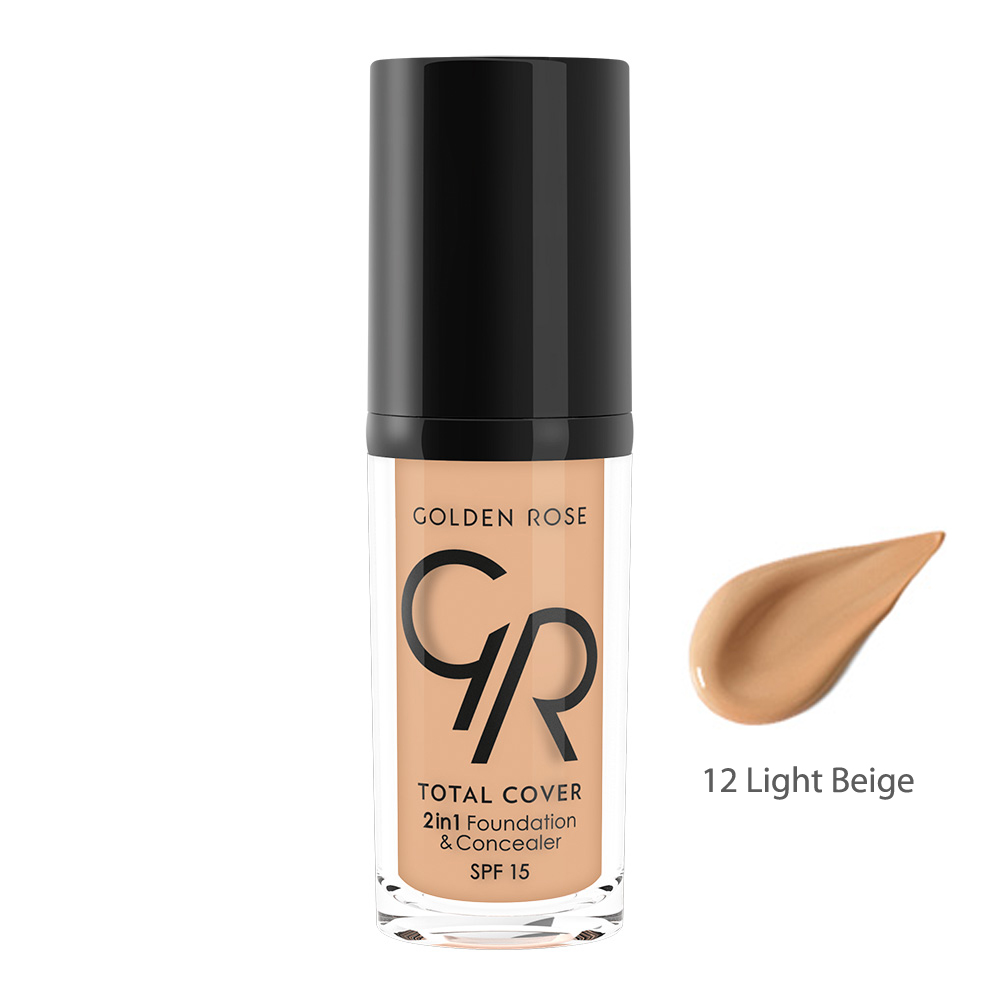 Golden Rose TOTAL COVER 2in1 Foundation & Concealer 12 Light Beige