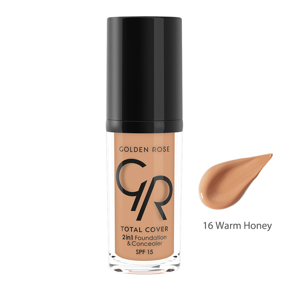 Golden Rose TOTAL COVER 2in1 Foundation & Concealer Seyahat Boy 16 Warm Honey