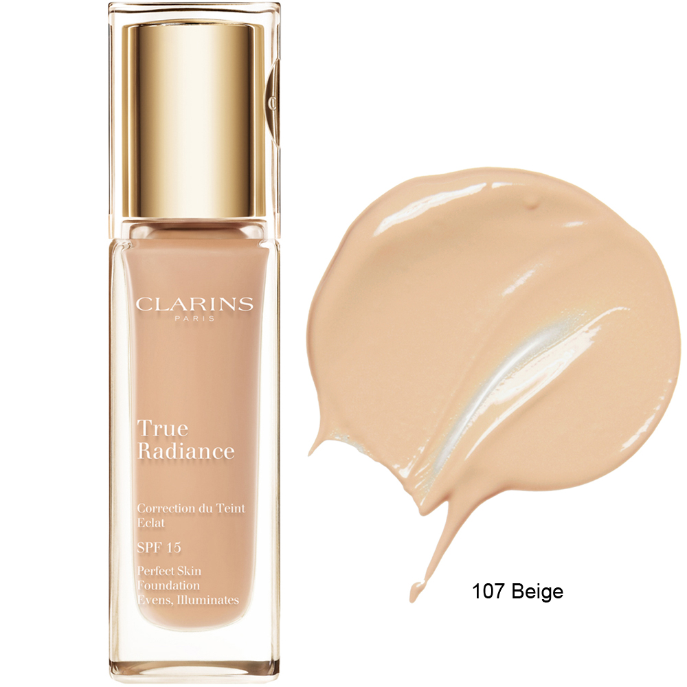 Clarins True Radiance Foundation SPF 15 107 Beige