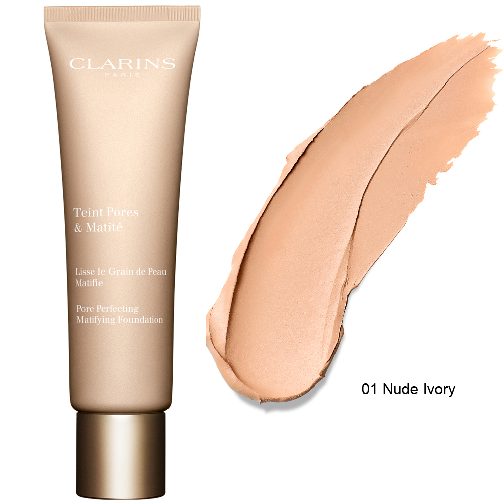 Clarins Pore Perfecting Matifying Foundation 30 ml 01 Nude Ivory