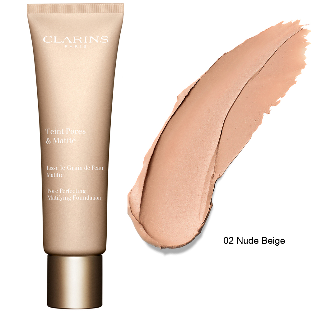 Clarins Pore Perfecting Matifying Foundation 30 ml 02 Nude Beige