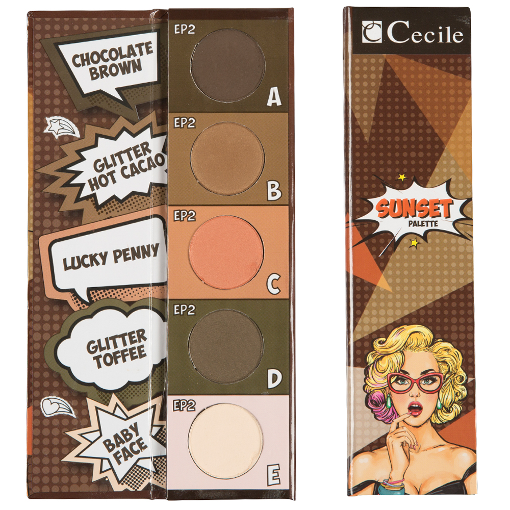 Cecile Sunset Eyeshadow Palette