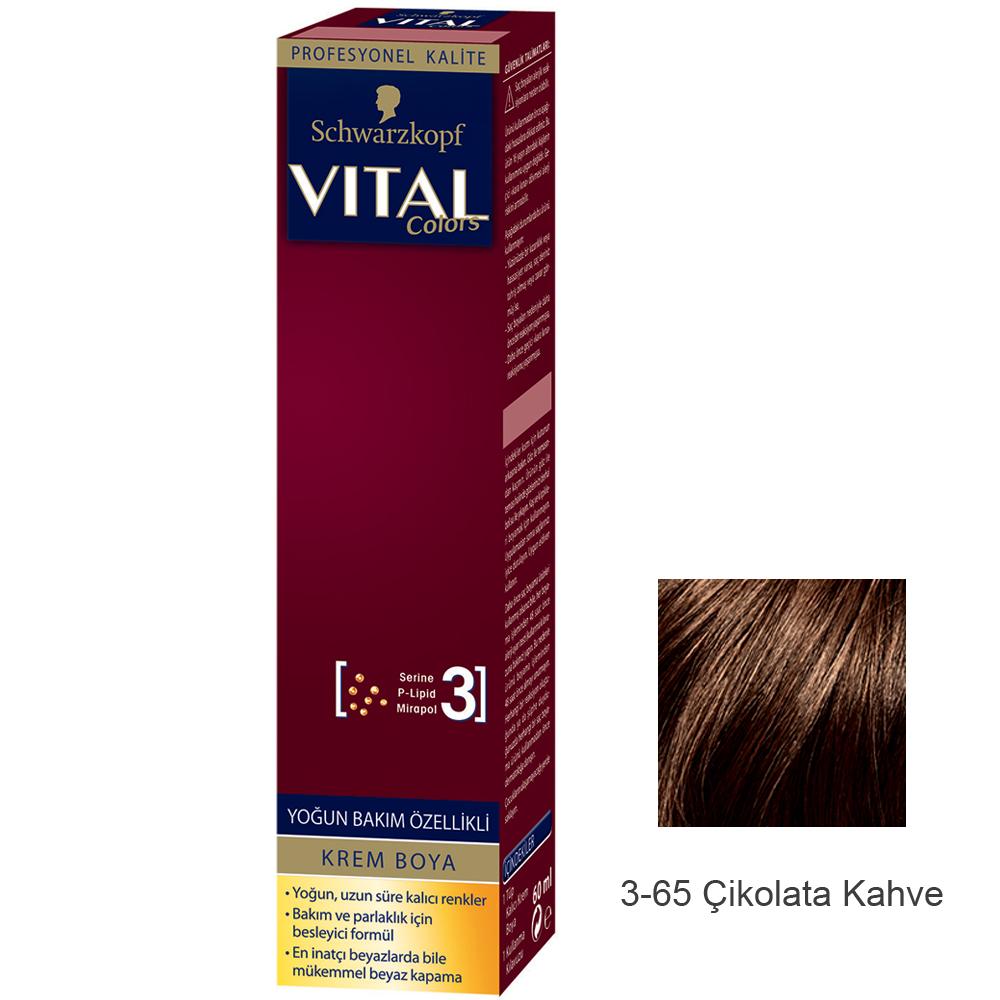 Schwarzkopf Vital Colors Krem Sac Boyasi 3 65 Cikolata Kahve